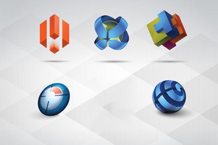 3D Logo Illustrator Template Free Download