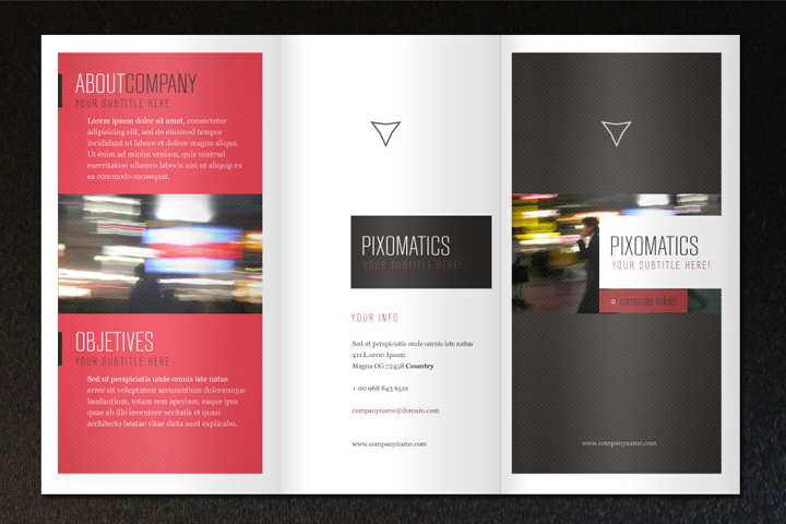 Corporate Tri-Fold Brochure Template Free Download