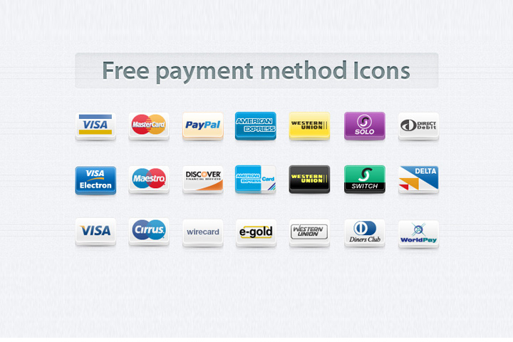 Payment Methods Icons Free Download