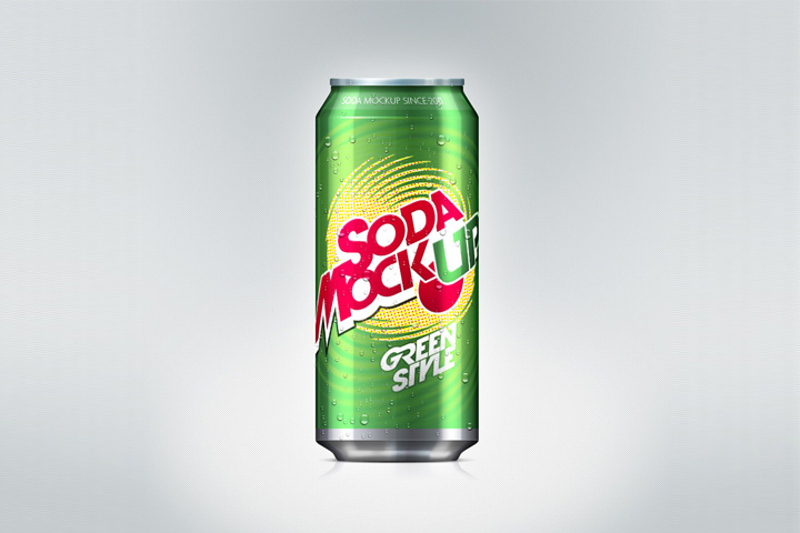 Soda Can Mock-Up Free Download