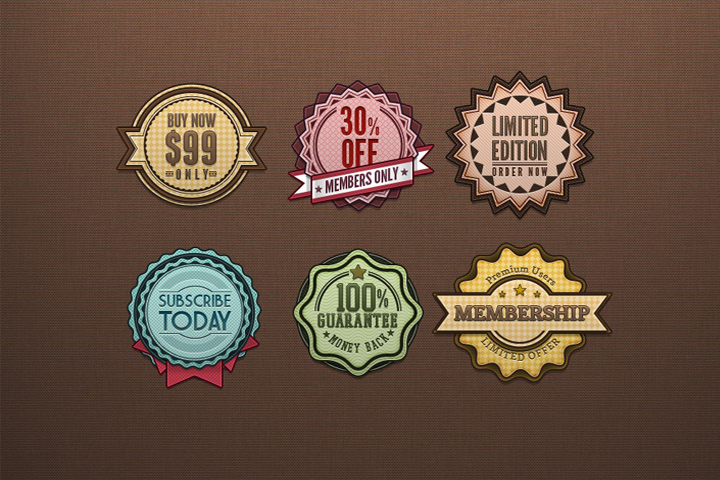 Vintage And Retro Badges Free Download